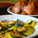 Broiled Romano Summer Squash with Grilled Wings