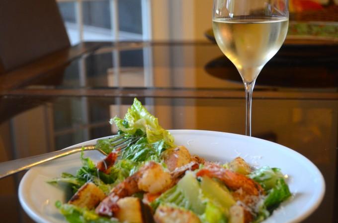 Old Bay Shrimp Casear Salad