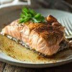 Pan Seared Salmon with Lemon White Wine Butter Sauce | @gogogogourmet