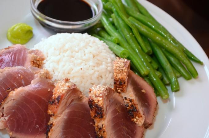 Sesame-Crusted Seared Ahi Tuna