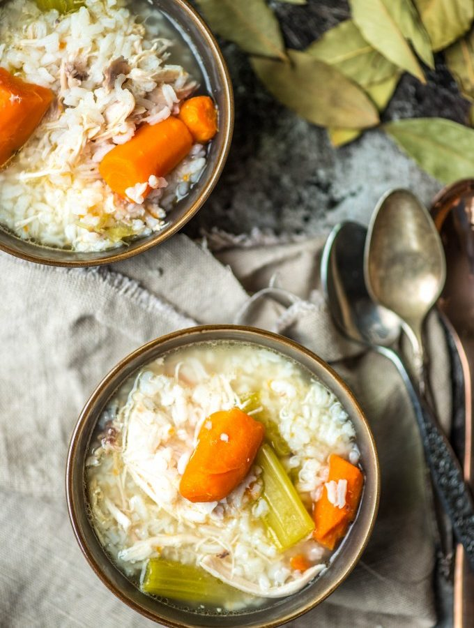 Chicken and Rice Soup is the perfect soup- easy, simple and hearty! | @gogogogourmet