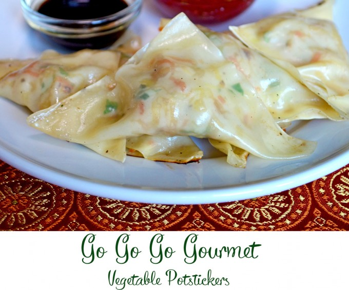 Vegetable Potstickers - a quick and easy dish that works as an #appetizer, snack or dinner! | Go Go Go Gourmet