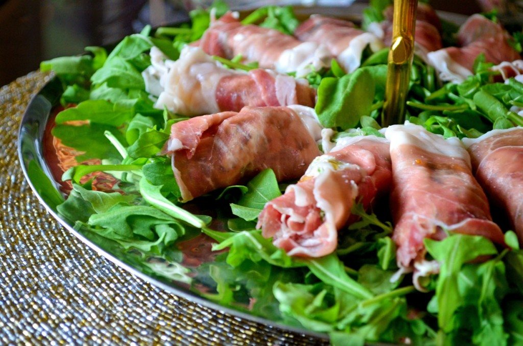 ... Delights: Prosciutto Rolls with Goat Cheese, Arugula & Fig Preserves