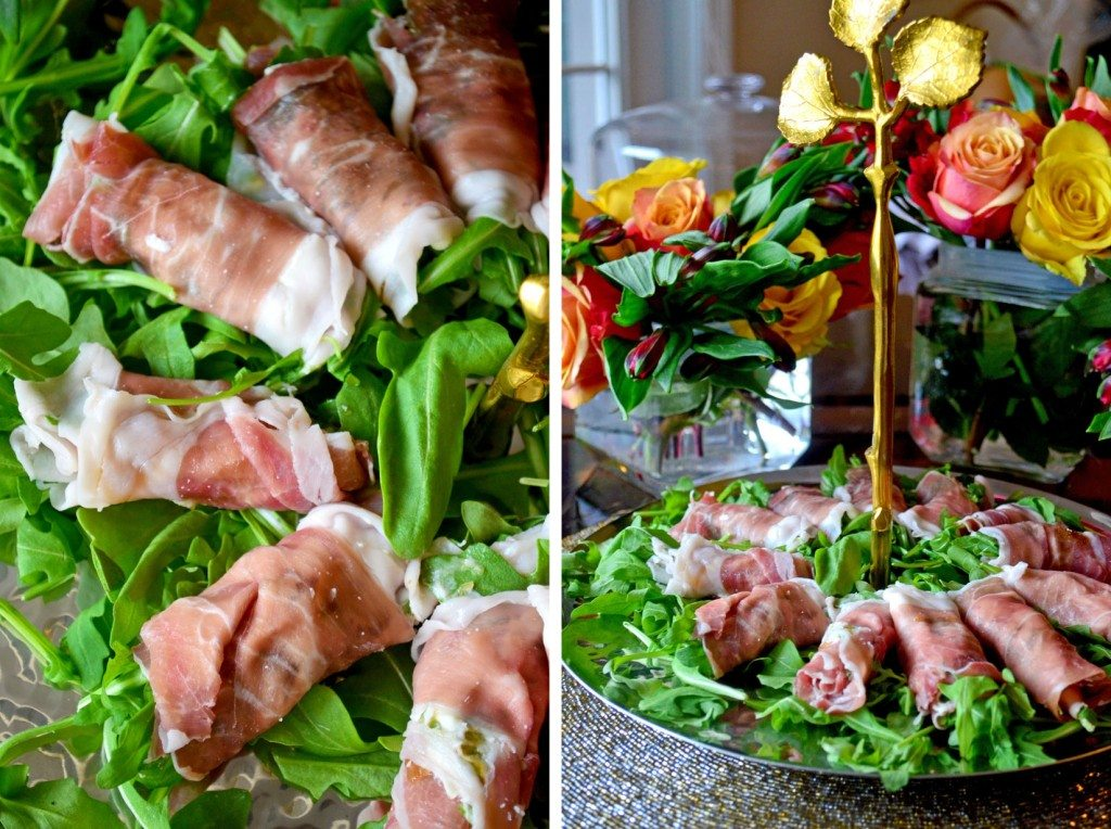 Dinner Party Delights: #Prosciutto Rolls with Goat Cheese, Arugula & Fig Preserves- An #appetizer that is so easy, yet so delicious, you'll wonder why you didn't think of it sooner! | Go Go Go Gourmet #entertaining