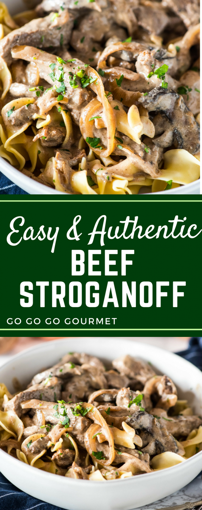 This easy homemade beef stroganoff is the best authentic recipe out there! Ready in under 30 minutes, you can use a variety of beef cuts depending on your budget.