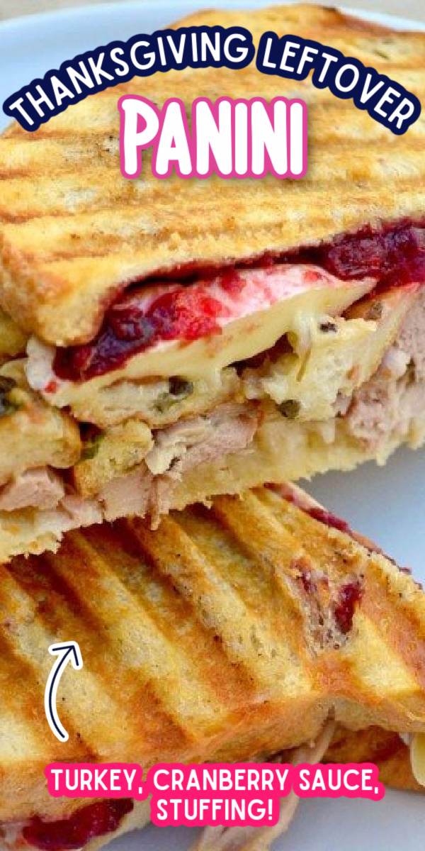 Not sure what to do with all of your Thanksgiving leftovers? Use them to make this delicious Thanksgiving Leftover Panini Recipe! #thanksgivingleftovers #gogogogourmet via @gogogogourmet