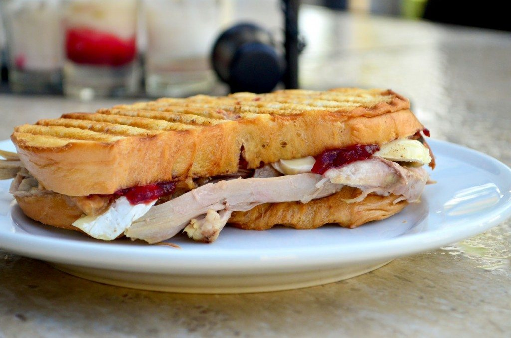 Put your #Thanksgiving #leftovers to work in this amazing Thanksgiving Leftover Panini! | Go Go Go Gourmet