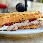 Thanksgiving Leftovers Panini with Turkey, Stuffing, Cranberry and Brie | Go Go Go Gourmet @gogogogourmet
