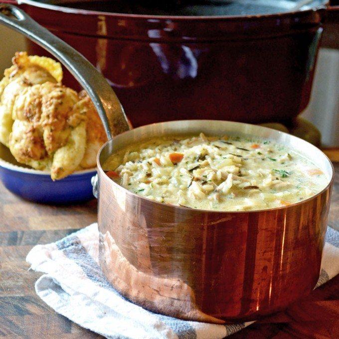 Copycat Panera Creamy Chicken & Wild Rice Soup | Go Go Go Gourmet