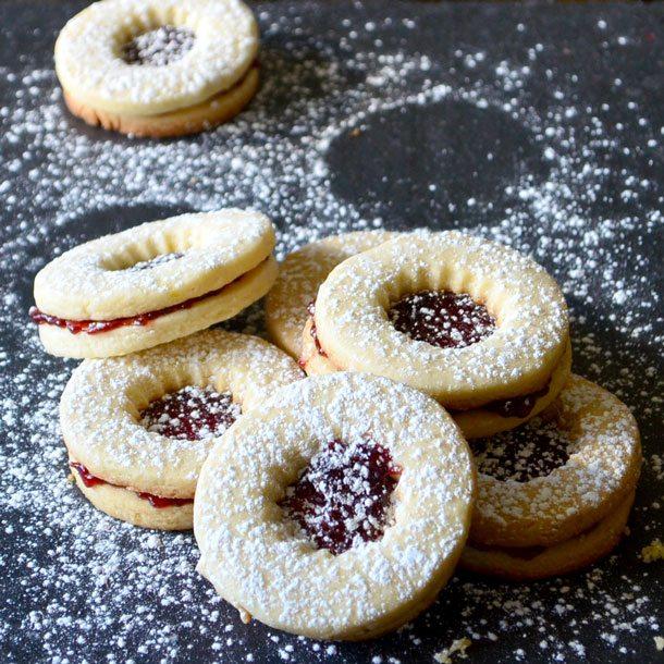 Classic Linzer cookies remixed with flecks of citrus zest | Go Go Go Gourmet