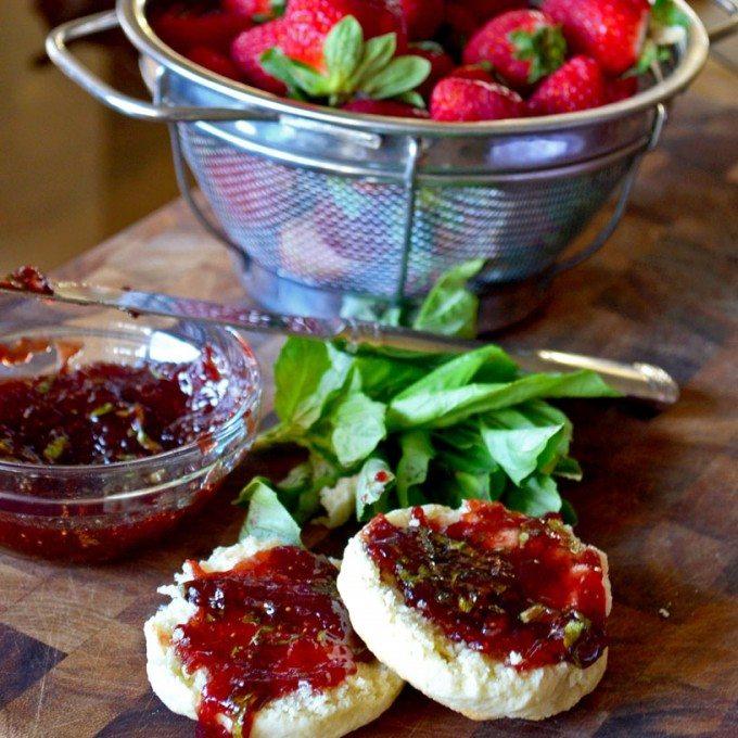 Strawberry- Basil Jam- A new twist on a classic | Go Go Go Gourmet