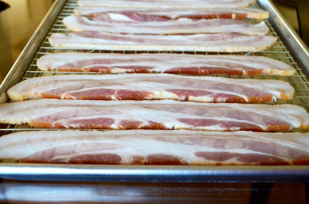 Candied Bacon, perfect for topping a salad (or just snacking, I'll never tell) | Go Go Go Gourmet