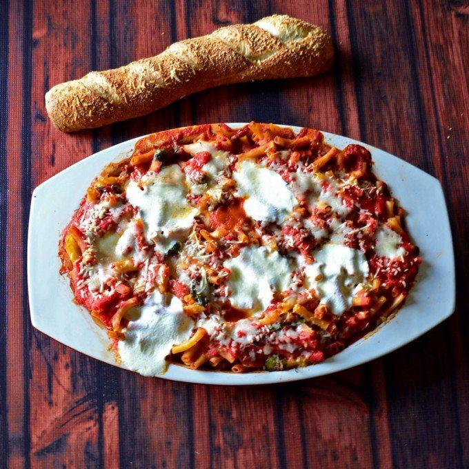 Multi-Cheese Layered Baked Ziti | Go Go Go Gourmet