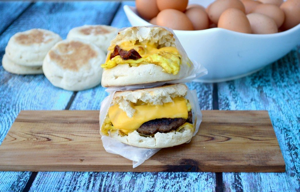 Freezer Breakfast Sandwiches- the work is all done ahead of time, so you can sleep in! | Go Go Go Gourmet