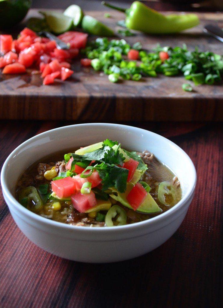 Crockpot Carnitas Burrito Bowl Soup   Go Go Go Gourmet