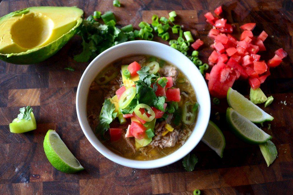 Crockpot Carnitas Burrito Bowl Soup | Go Go Go Gourmet