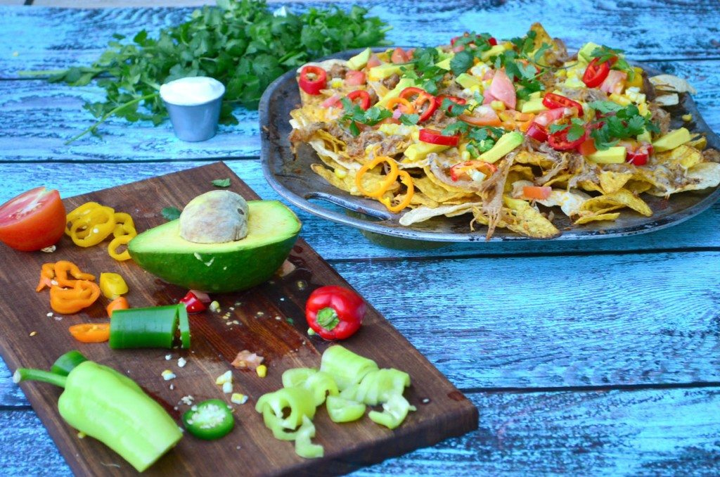Grilled Chorizo and Carnitas Nachos | Go Go Go Gourmet