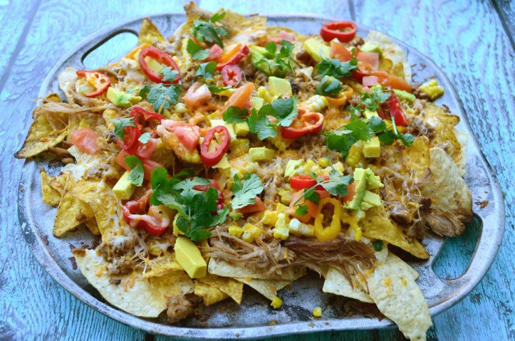 Grilled Chorizo and Carnitas Nachos | Go Go Go Gourmet
