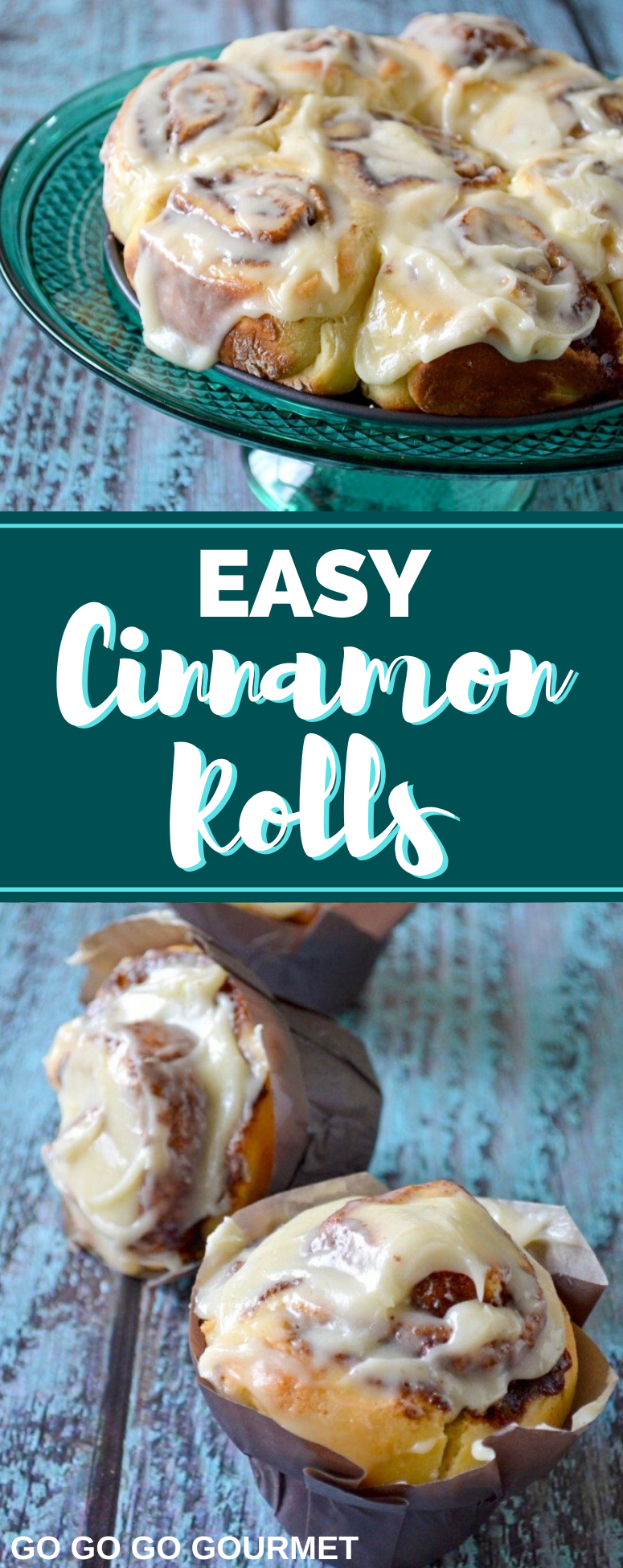 These easy homemade Cinnamon Rolls are the best! They're quick to make and even better than the Pillsbury or Pioneer Woman recipe! #gogogogourmet #cinnamonrolls #homemadecinnamonrolls #easycinnamonrolls via @gogogogourmet