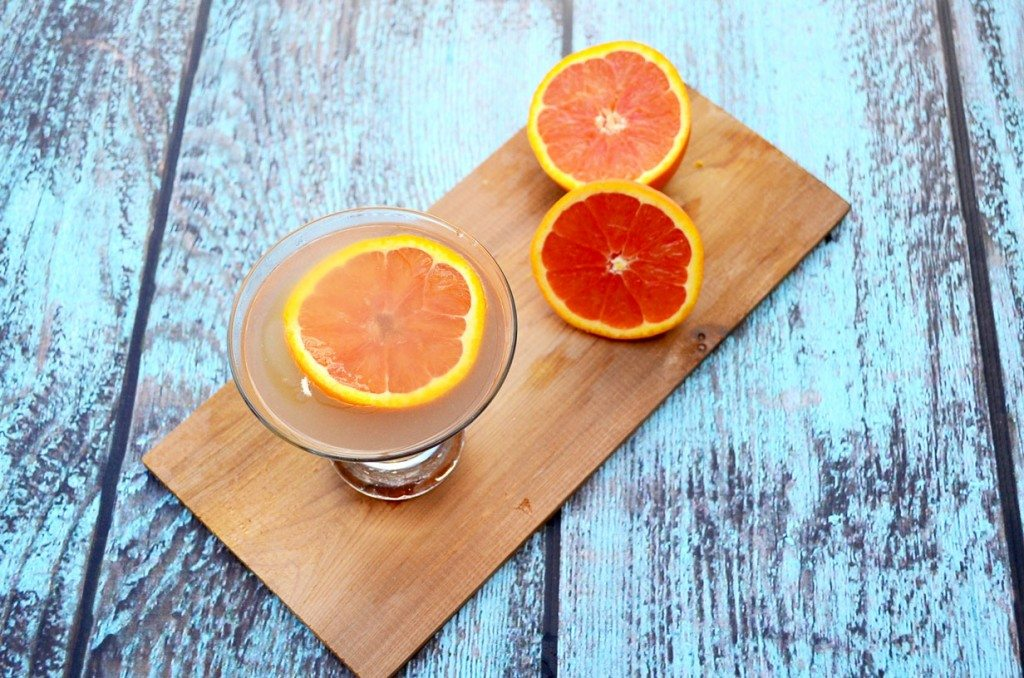Clearwater Sunset Martini - Pineapple, orange, citrus vodka, Cointreau and Chambord. Amazing! | Go Go Go Gourmet