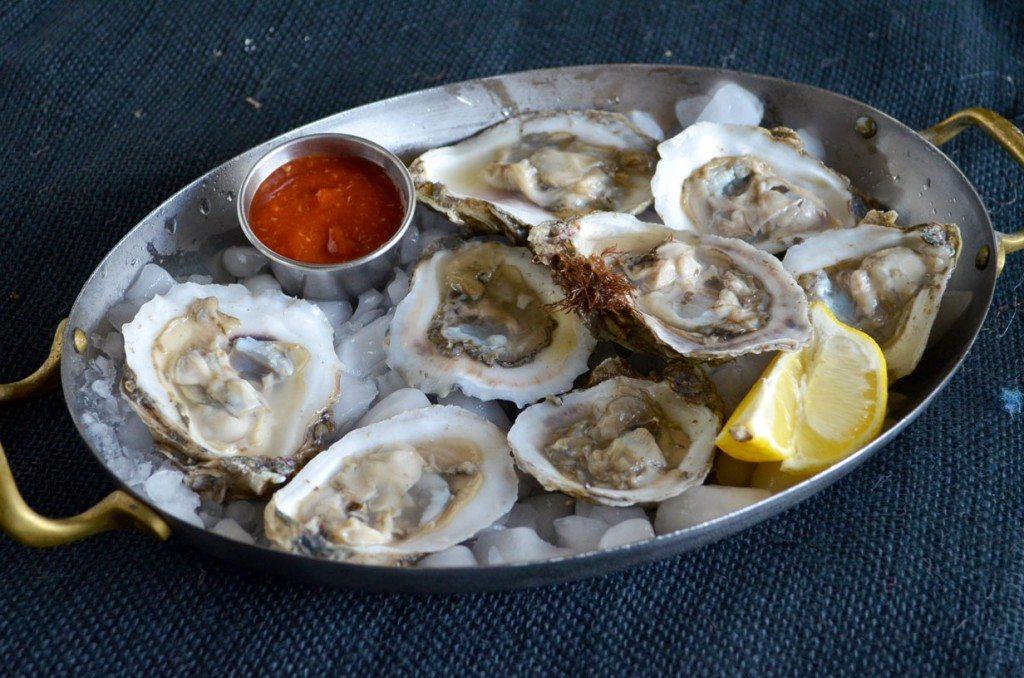 Shucked Oysters with Cocktail Sauce & Lemon | Go Go Go Gourmet