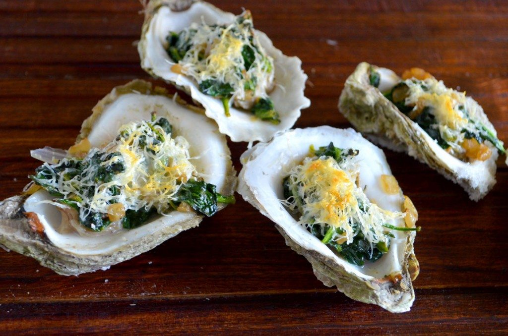 Spinach Parmesan Oysters | Go Go Go Gourmet