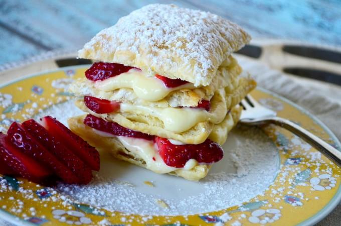 Strawberry Napoleons • Go Go Go Gourmet