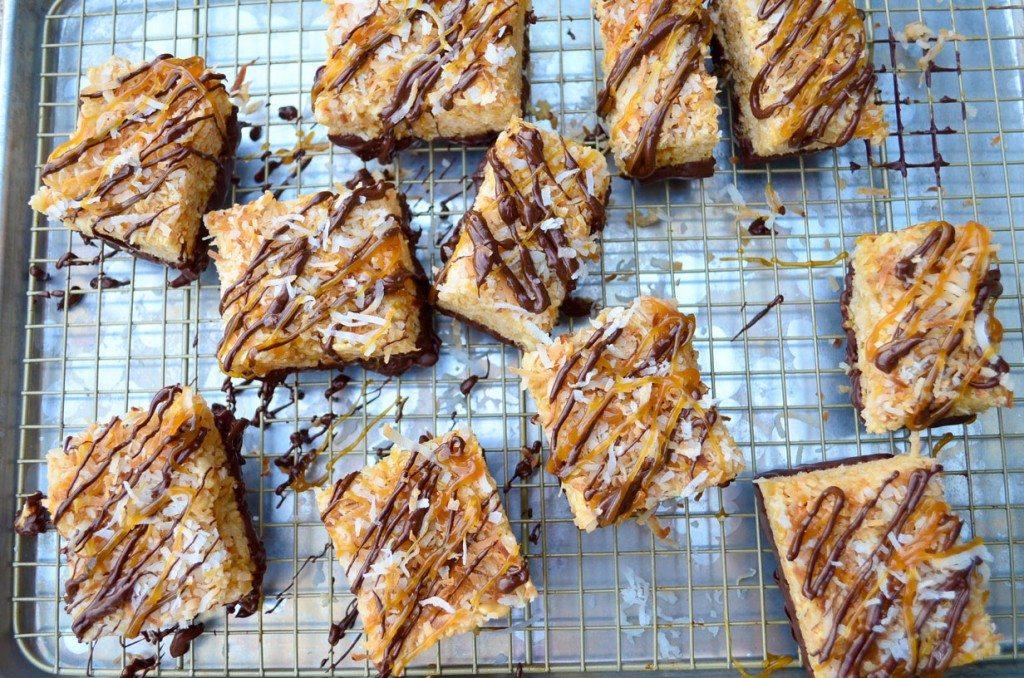 Samoa Rice Krispie Treats | Go Go Go Gourmet @gogogogourmet