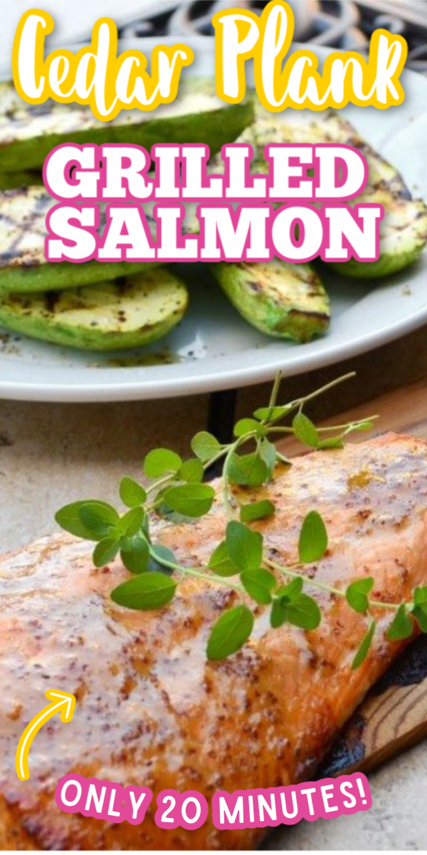 With only a few simple ingredients, this healthy Cedar Plank Salmon recipe is the best! Fire up the BBQ and you're ready to make this perfect summer dinner! #gogogogourmet #cedarplanksalmon #easysalmonrecipes #howtomakecedarplanksalmon via @gogogogourmet