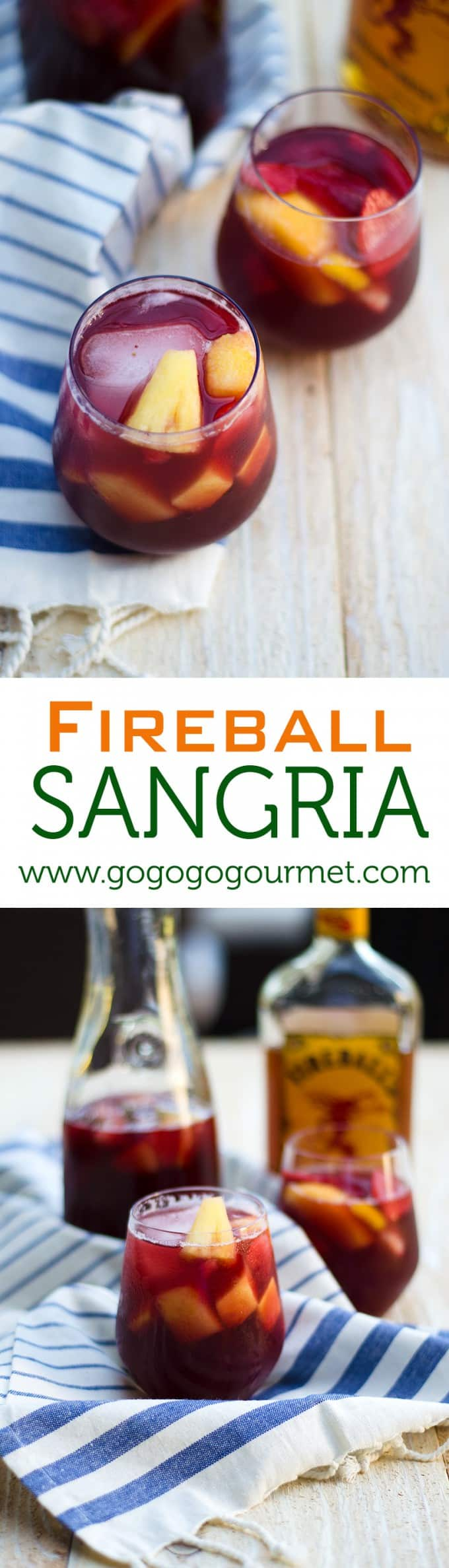 Fireball Sangria is the perfect way to cool down when it's warm outside- only a few ingredients go into this amazing cocktail!