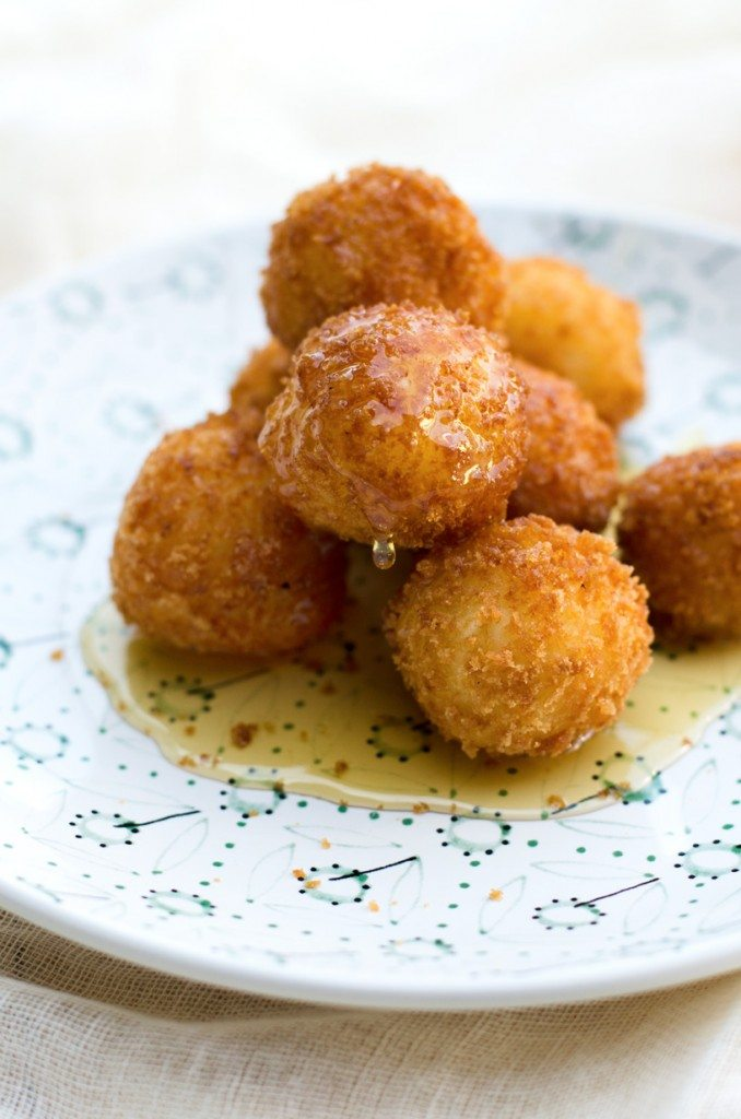 Quick and Easy Fried Goat Cheese Balls | @gogogogourmet