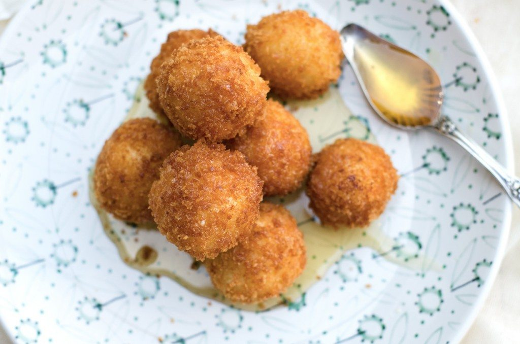 Fried Goat Cheese Balls With Drizzled Honey Go Go Go Gourmet