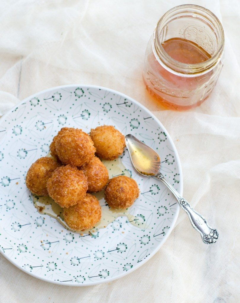 Fried Goat Cheese Balls | @gogogogourmet
