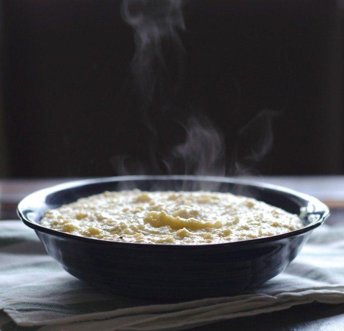 Smoked Gouda Cheesy Polenta | Go Go Go Gourmet @gogogogourmet