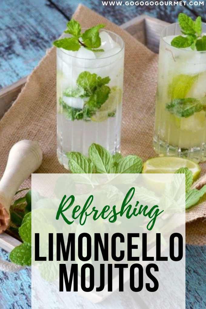 There is nothing more refreshing on a hot day than a mojito, and this Limoncello Mojito recipe is no exception! With only a few ingredients, you're on your way to a delicious limoncello mint mojito! #gogogogourmet #limoncellomojitos #limoncellomojitorecipe #easymojitorecipes #summercocktails via @gogogogourmet