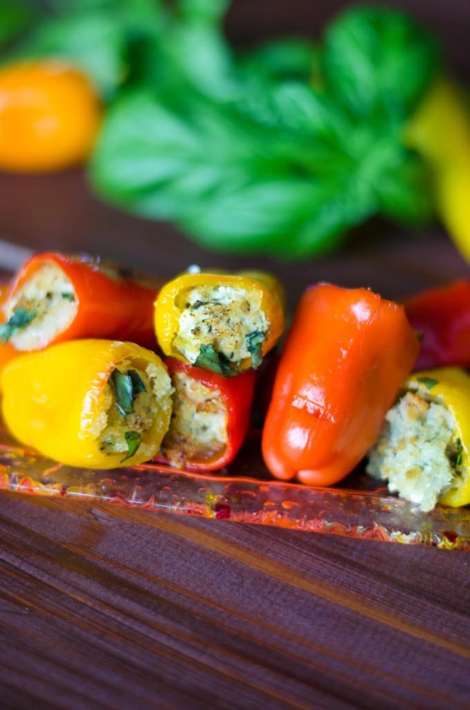Pesto Goat Cheese Stuffed Peppers Go Go Go Gourmet