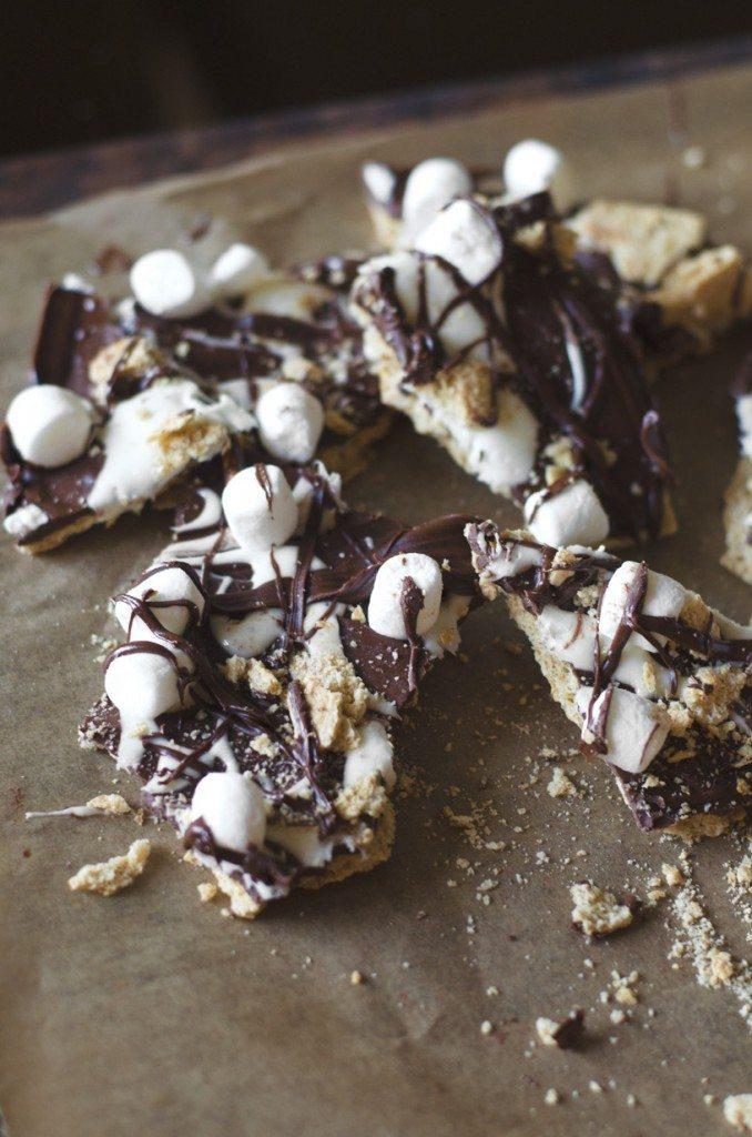 Nutella S'mores Pretzel Bark | Go Go Go Gourmet @gogogogourmet