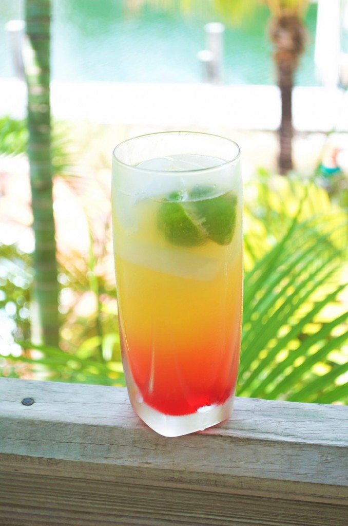 The Mutton Snapper Cocktail- tropical juices, rum, club soda and lime create a crisp and refreshing cocktail | Go Go Go Gourmet @gogogogourmet
