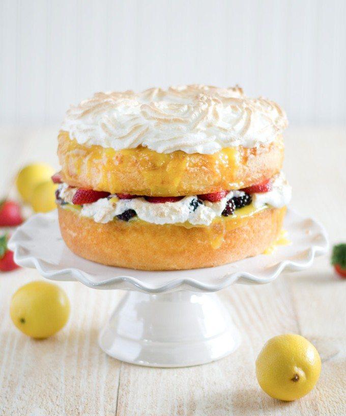 Angel food cake with lemon curd fresh berries and meringue rosettes angel food cake with lemon curd fresh berries and meringue rosettes go go go gourmet forumfinder Gallery