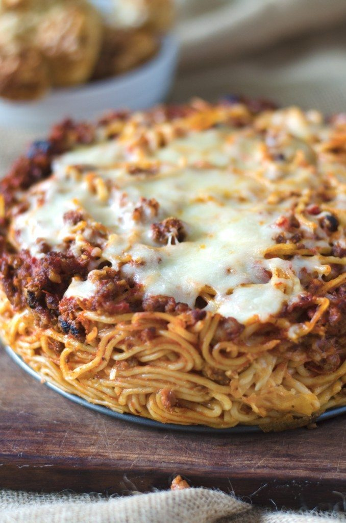 Baked-Baked Spaghetti with Pepperoni | Go Go Go Gourmet @gogogogourmet