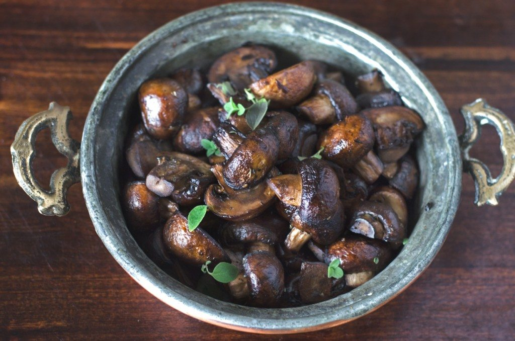 Sauteed Mushrooms with Oregano and Balsamic | Go Go Go Gourmet @gogogogourmet
