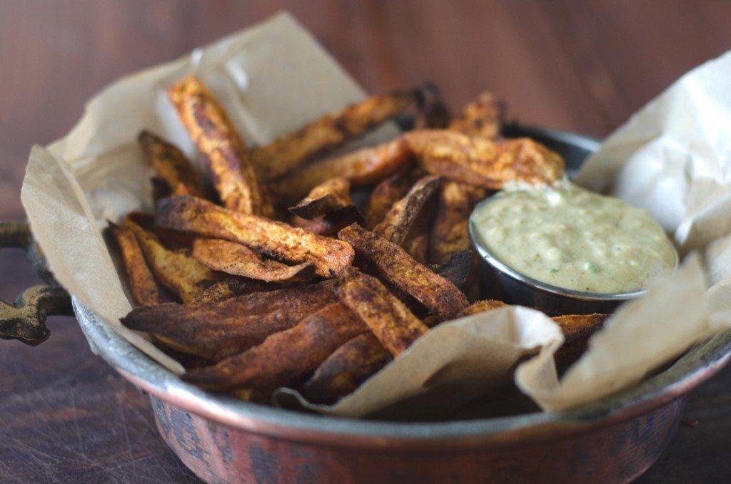 Cumin and Cayenne Spicy Baked Sweet Potato Fries | Go Go Go Gourmet @gogogogourmet