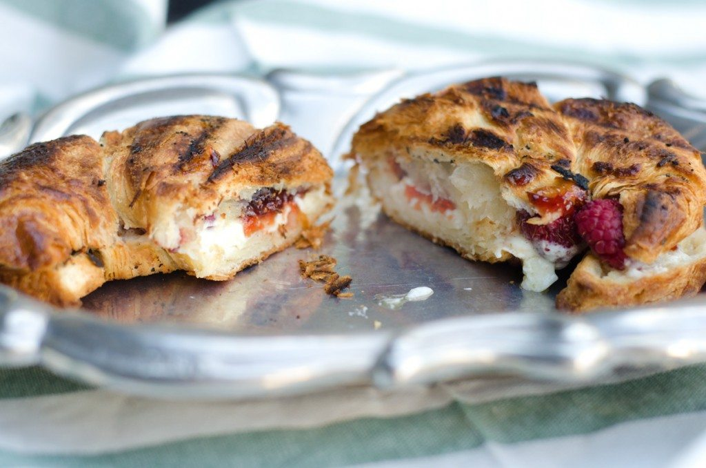 Grilled Mascarpone and Berry Croissant | Go Go Go Gourmet @gogogogourmet