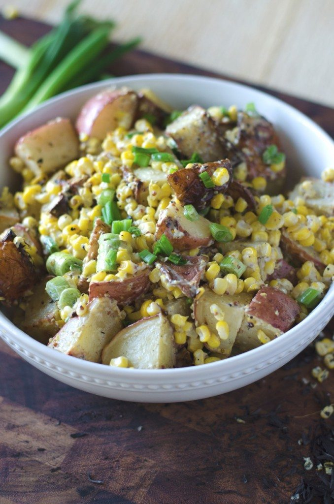 Honey Mustard Lime Grilled Potato Salad | Go Go Go Gourmet @gogogogourmet