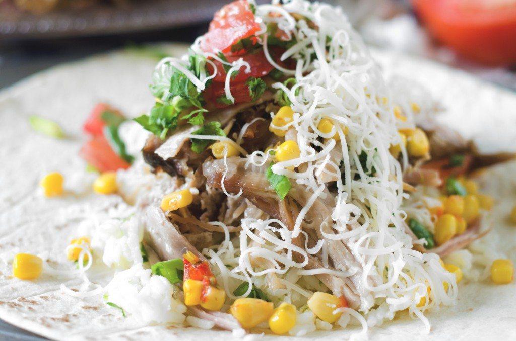 Slow Cooker Carnitas Burritos | Go Go Go Gourmet @gogogogourmet