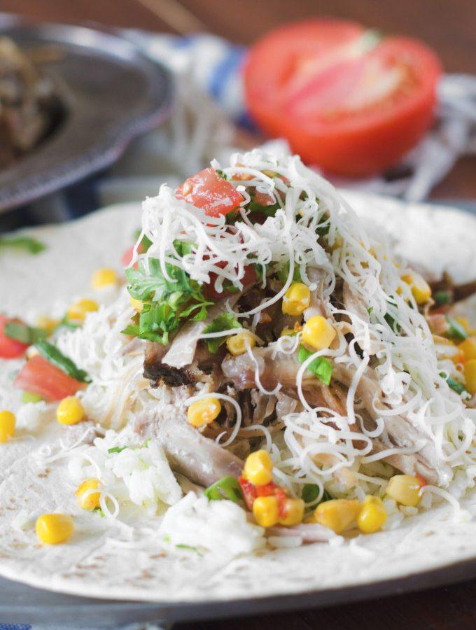 Slow Cooker Carnitas Burritos