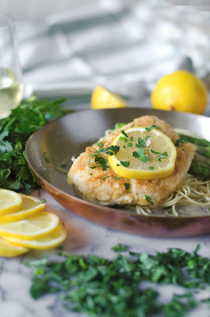 easy Chicken Francese Recipe using boneless chicken breasts or chicken thighs for a fast dinner | @gogogogourmet