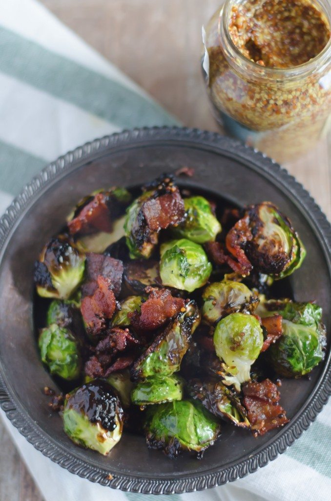Grilled Brussel Sprouts with Bacon and Mustard | Go Go Go Gourmet @gogogogourmet