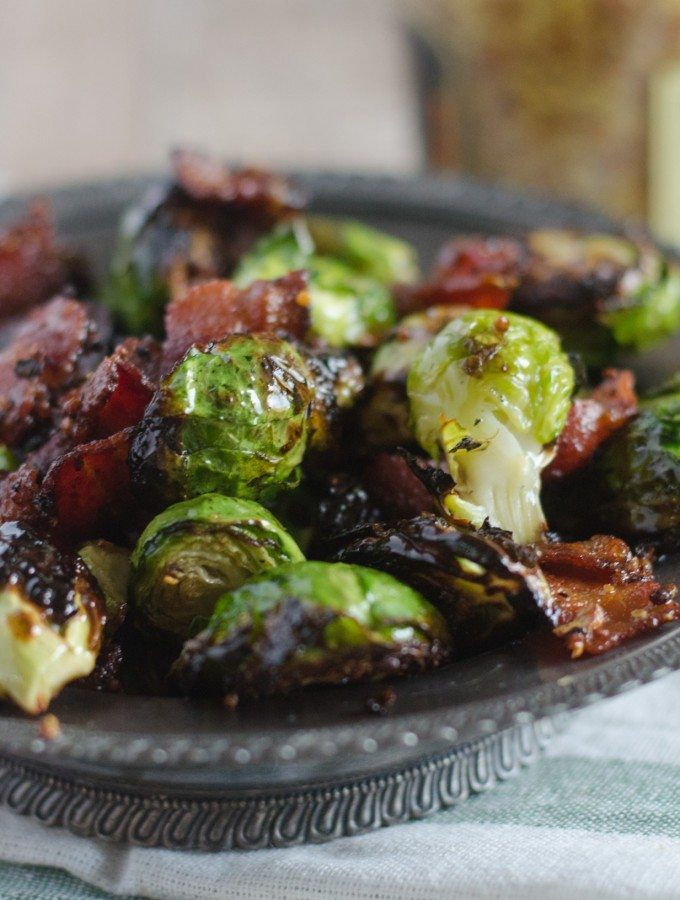 Grilled Brussel Sprouts with Mustard and Bacon | Go Go Go Gourmet @gogogogourmet