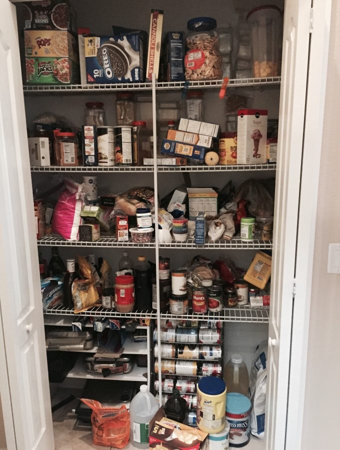 Pantry Storage Makeover